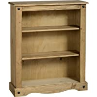 Home Essentials Corona Low Book Case, Solid Pine Wood