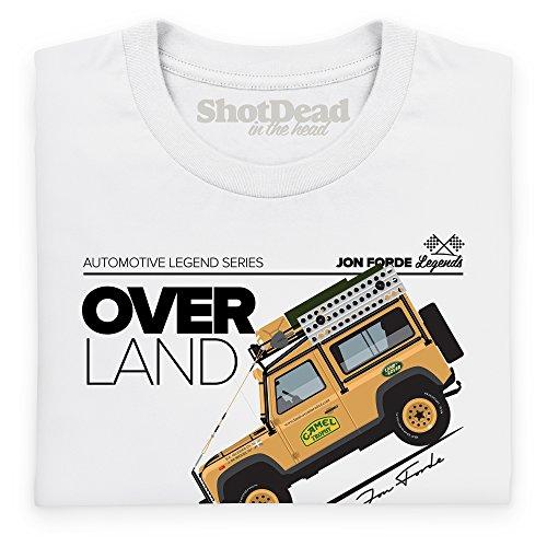 Jon Forde Over Land T-Shirt, Herren Wei