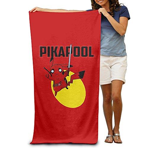 Mkcook Pokémon Go Deaadpool & Pikachu Pikapool Serviette de plage pour adultes/80x 130cm