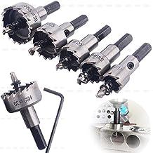 【 Mejor Deals para Navidad 】 OriGlam 5pcs 16–30mm HSS Broca de corona Set, herramientas de corte de aleación de acero de alta velocidad brocas helicoidales para el corte de acero inoxidable/Latón/de metal agujeros de perforación