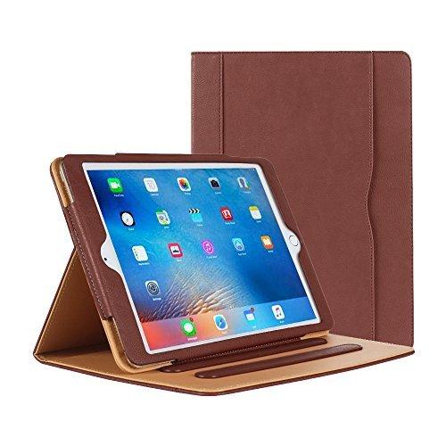 iPad Air Hülle - iPad PU Leder Smart Schutzhülle Cover Case mit Ständer Funktion und Auto-Einschlaf/Aufwach für Apple iPad Air/Neu iPad 9.7 (5th generation) 2017 (braun)