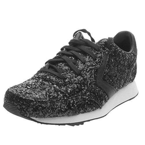 Converse Auckland Racer Ox Text Glitter - Black/Black - (38, black/black)