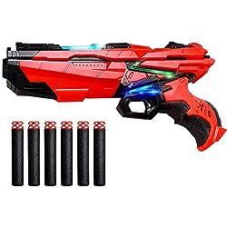 StillCool Pistolet à Pistolet à Jouer avec fléchettes en Mousse Compatible avec Les Pistolets Nerf avec 6 PCS Recharge Darts en Mousse Souple EVA