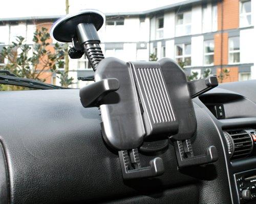 """Duragadget Support voiture 2 en 1 d'appuie-tête et pare-brise - ajustable - pour tablettes Boulanger LISTO Web'PAD 1001 10,1"""", Web'PAD 7002 7"""" et ESSENTIELB Family'TAB 8"""""""