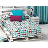 Cañete - Edredón ajustable THOR B cama 90 - Color Pistacho