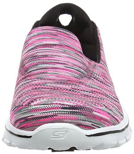 Skechers Gowalk 3 Crazed, Sneakers basses femme Pink (Hpbk)