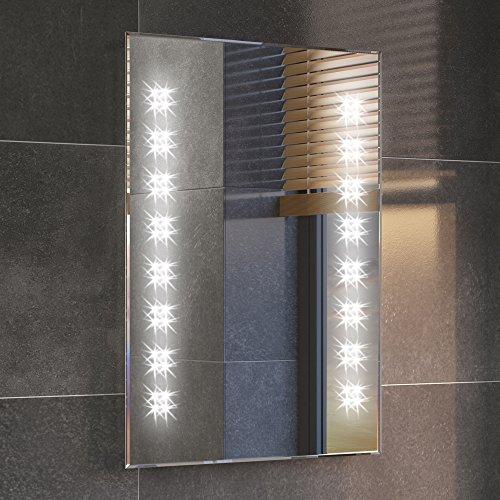 iBathUK 500 x 700 mm Illuminated LED Bathroom Mirror Backlit Light Sensor   Demister ML2101