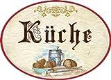 Kaltner Präsente Geschenkidee - Türschild Schild aus Holz im Antik Design KÜCHE