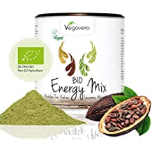 Superfood Energy Mix orgánico | 200 gr. Matcha, Hierba de Trigo, Cacao,