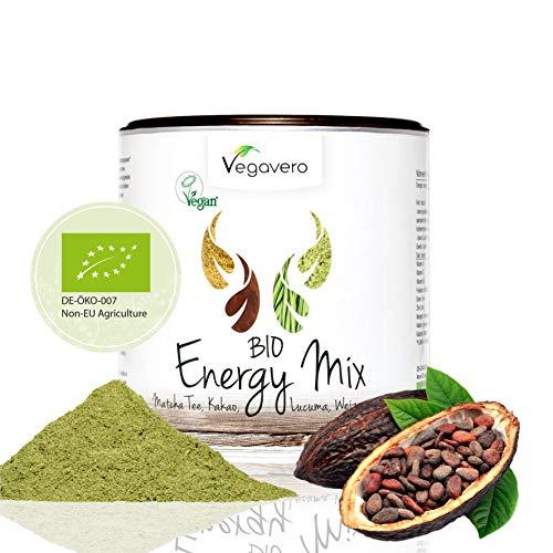 superfood bio vegavero® | 200 g | energetico naturale | con caffeina | a base di te matcha, cacao, lucuma ed erba di grano | energy mix | vegan