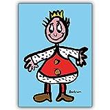 1 Geburtstagskarte: Verschicken Sie diesen süßen König als Geburtstagskarte oder einfach nur so