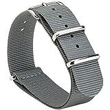 Gemony NATO Strap Prima balístico Nylon Correa de reloj 20mm Adecuado para DW (WB-103)