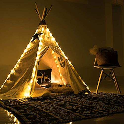 Led Lichterkette für Tipi Zelt, 4 X Kette Kinder Teepee Spielzelt Lights Dekorativ, Fairy Lights for Teepee Tents