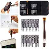 TechTest 25-in-1 Precision Screwdriver Set Multi Pocket Repair Tool Kit