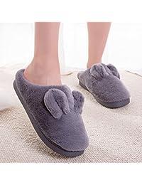 9837aa1fc0f1e YMFIE Cubierta de Invierno Zapatillas de algodón Afelpado Preciosa casa  térmico Antideslizante Zapatillas Zapatos