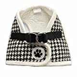 Best Four Paws Dog Harness For Cars - Black/White Houndstooth Fleece Padded Soft Dog Harness Safe Review