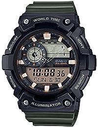 Casio Reloj Analogico-Digital para Hombre de Cuarzo con Correa en Resina AEQ-200W
