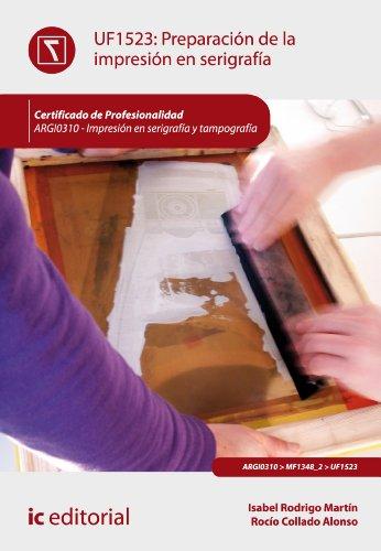 Preparación de la impresión en serigrafía. ARGI0310 por Isabel Rodrigo Martín