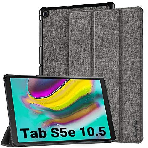 EasyAcc Hülle für Samsung Galaxy Tab S5e T720/ T725 10.5 - Ultra Dünn mit Standfunktion Auto Sleep/Wake Up Funktion Slim PU Leder Schutzhülle Passt für Samsung Galaxy Tab S5e 10.5 Zoll 2019, Grau