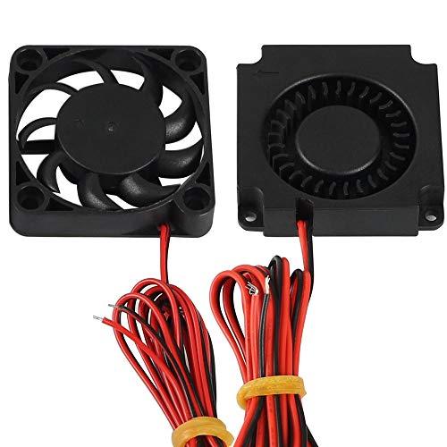 FYSETC Impresora 3D partes 4010 soplador 40x40x10 mm 12 V DC extrusor de ventilador de refrigeración de extremo caliente ventilador de radiador circular para Creality CR-10, CR-10S, S4, S5-2 piezas