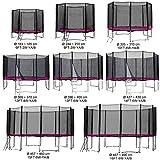 Gartentrampolin Kindertrampolin Trampolin 183 bis 185 cm pink komplettes Set mit Sicherheitsnetz und...