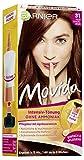 Garnier Tönung Movida Pflege-Creme, Intensiv-Tönung Haarfarbe 31 Helles Schokobraun (für leuchtende Farben, auch für graues Haar, ohne Ammoniak) 3er Pack Haarcoloration-Set
