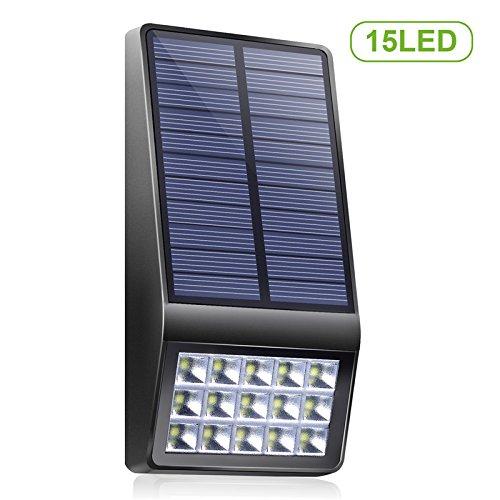 TodLight Solar Motion Sensor Security Light, 15 LED Weatherproof Solar  Powered Wall Light Wireless Motion