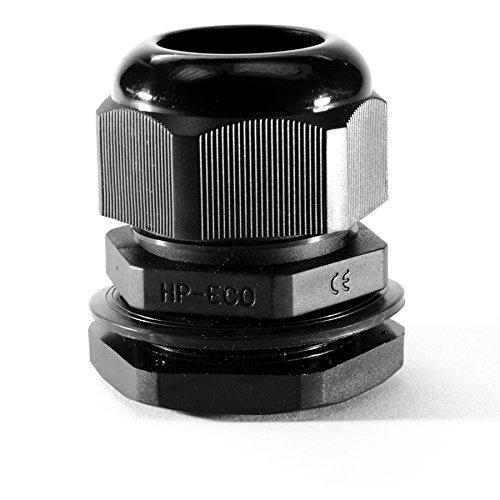 Preisvergleich Produktbild 10 Stk. Kabelverschraubung M16 x 1,5 schwarz mit Gegenmutter Kunststoff JSM16KVS-S