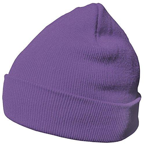 DonDon Wintermütze Mütze warm klassisches Design modern und weich flieder