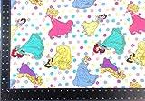 Disney Prinzessinnen Polka Dot Winceyette 100% gebürstete
