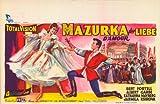 Mazurka der Liebe Plakat Movie Poster (11 x 17 Inches - 28cm x 44cm) (1957) Belgian