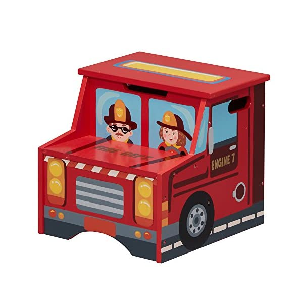 Fantasy Fields - Little Fire Fighters Hand Painted Step Stool with Storage Fantasy Fields By Teamson Lightweight design for easy portability with carry handles either side. dimensions 33.02 x 34.29 x 30.48 cm Top step has a lid that opens up to reveal a handy storage space. perfect for helping your child to reach the sink to brush their teeth. Teach your kids colour and character recognition and enhance their imaginative minds. great for encouraging children's independence 1