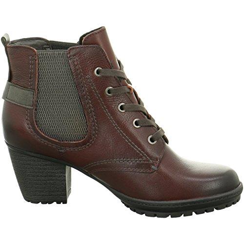 Jana merletto delle signore bootee 8-25211-25 bordeaux Rosso
