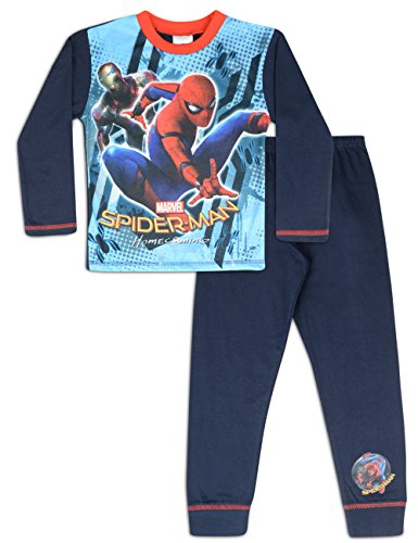 Boys-Spiderman-Pjs-Pyjamas-Ages-4-to-10-Years-5-6-Years