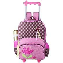 maletas niña con ruedas - Rojo - Amazon.es