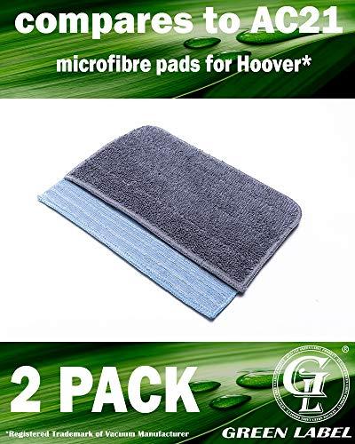 prezzo Confezione da 2. Kit dei panni in microfibra di densità media e di alta densità per le scope a vapore Hoover SteamJet (alternativa a AC21)