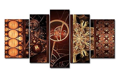 5pièces Décoration murale Image Fractal Designs Impressions sur toile images à la abstraite à l'huile pour Home Décor Imprimé moderne Décoration pour chambre d'enfant