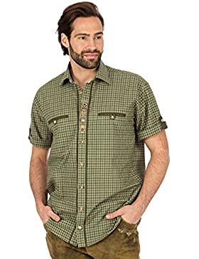 orbis Textil Trachtenhemd Halbarm Schlamm