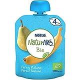 Nestlé Naturnes Bio Bolsita de puré de Pera y Plátano - Alimento Para bebés -16x90g