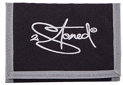 Original 2stoned Geldbörse Wallet mit Stick Classic Logo in Schwarz (Schwarze Classic Wallet)