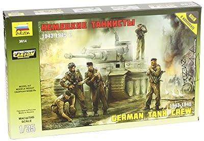 Zvezda 500783614 - 1:35 WWII Figuren-Set Deutsche Panzer-Besatzung (5) von Zvezda