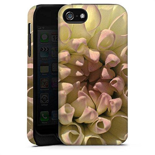 Apple iPhone 5 Housse étui coque protection Fleur Fleur Dahlia Cas Tough terne