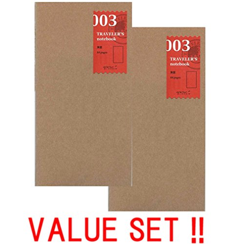 Midori Notebook (Refill 003) blanko 2 Value Set