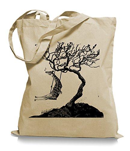 Giraffa A Dondolo Ma2ca® - Borsa Da Viaggio In Tessuto Di Juta / Borsa Wm101 Sabbia