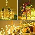 B-right 2er Pack 30er LED Lichterketten mit Batterie, Lichterkette für Zimmer, Kinderzimmer, Schlafzimmer, Garten, Balkon, Weihnachten, Weihnachtsbaum, Hochzeit von B-right - Lampenhans.de