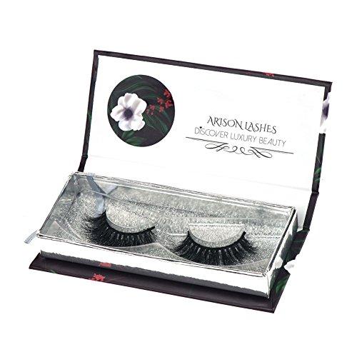 Arison Lashes Falsche Wimpern 3D lang Dicke Dramatisch Aussehende 100% Handgefertigt für Make-up (Wimpern Lift)
