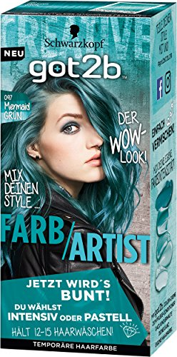 Schwarzkopf Got2b Farb/Artist Haarfarbe, 097 Mermaid Grün, 3er Pack (3 x 80 ml) (Grün Haar-farbe Permanente)