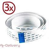 AZDelivery ⭐⭐⭐⭐⭐ 3 x Ersatz Flexkabel 50 cm für Raspberry Pi Kamera/Display (50 cm)