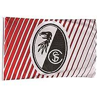 SC Freiburg Fahne Saumfahne Streifen 150 x 100 o. Stock SC Freiburg