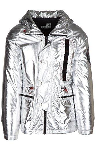 Love Moschino piumino giubbotto giubbino con cappuccio uomo argento EU 48 (UK 38) M H 692 01 T 8640 60